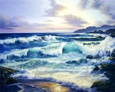 Новости Sailboat Painting, Photo Wall, Waves, Sky, Mountains, Beach, Artwork, Outdoor, Paintings