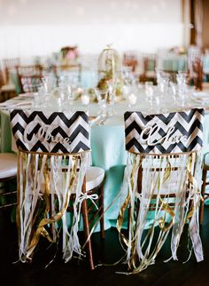 Santa Rosa Winery Wedding - festive wedding chairs