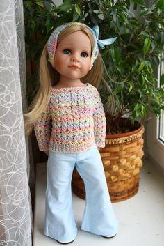 My sweet Hannah Beautiful Children, Beautiful Dolls, Afghan Dresses, Gotz Dolls, Knit Shoes, Handmade Clothes, Doll Accessories, Knit Dress, American Dolls