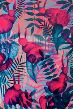 27 Ideas For Plants Pattern Design Illustrations Pattern Vegetal, Textile Patterns, Print Patterns, Tropical Pattern, Motif Floral, Surface Pattern Design, Wallpaper Backgrounds, Wallpapers, Pattern Wallpaper