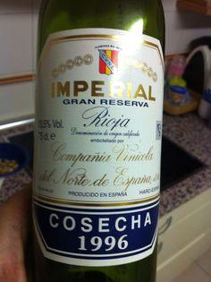Imperial Gran reserva 1996 Sigue estando a la altura!!!