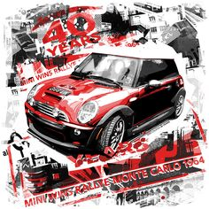 Grafika66 – The Art of Baz Pringle » Mini Cooper – 40th Anniversary - $25.00