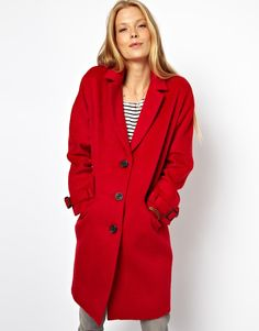 Limited Edition Red Mohair Coat