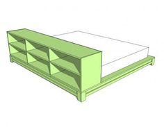 DIY Furniture : DIY Easiest Teen Platform Bed