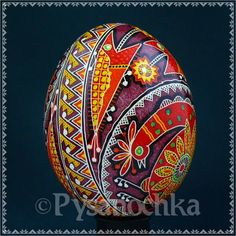 Real Ukrainian Pysanky Chicken Pysanka Hand Made HQ from Roman Easter Egg | eBay