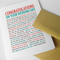 """Funny, Unique Wedding Card for Bride and Groom, """"What Couples Say"""" (COE-W006). $4.50, via Etsy."""