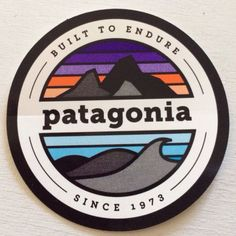 New 2014 Vintage Patagonia Mountains and Waves Decal Sticker Built to Endure | eBay