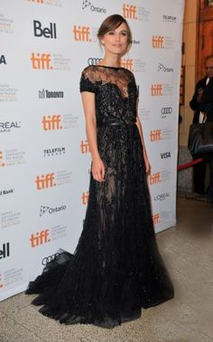 Keira Knightley on TIFF red carpet