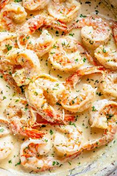 Creamy Garlic Shrimp With Parmesan is a deliciously easy Shrimp Recipe!Coated in a rustic and buttery sauce ready in less than 10 minutes, people will thinkthere is a hidden chef in your kitchen!Transform ingredients you most likely already have in your refrigeratorinto an incredible dinner! | cafedelites.com