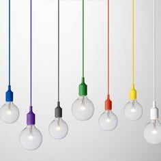 Muuto - Mattias Stahlbom - E27 Pendant Light - Yellow | Panik Design