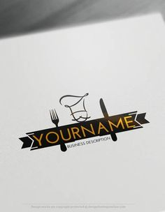 Create a logo Free - Chef Logo Templates. Customize This logo with our free logo maker tool Cake Logo Design, Food Logo Design, Logo Design Template, Logo Food, Slogan Design, Best Logo Design, Free Logo Templates, Resturant Logo, Restaurant Logo Design
