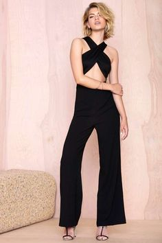 Nasty Gal Cross My Heart Jumpsuit | Shop Rompers + Jumpsuits at Nasty Gal