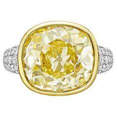 Betteridge 12.10 Carat Fancy Intense Yellow Diamond Ring