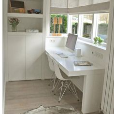 Office desk. Simple joinery design