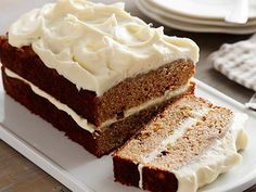 Apple Spice Cake with Cream Cheese Icing recipe from Anne Burrell via Food Network