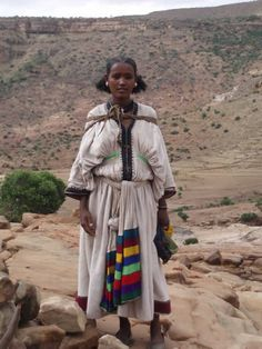 Ethiopian woman in the traditional orthodox dress, also white is the color worn for celebrations. :)