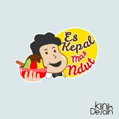 Es Kepal Logo Design Visit our website klinikdesainku.com or Instagram @klinikdesainku