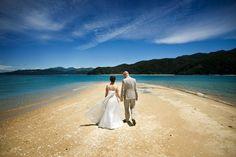 Adele Island sandspit - the perfect wedding aisle.