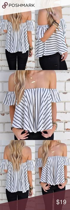 Off The Shoulder Top Gorgeous off the shoulder top for this summer. Wear it casually or dress it up for a fun night on the town! Smoke and Pet Free Home. Bundle and save! Tops