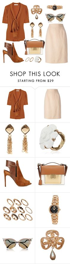 """""""ode to the 70s"""" by abcdefghijklmnopqrstuvwxyz-138 ❤ liked on Polyvore featuring Chloé, Chanel, Sergio Rossi, Salvatore Ferragamo, ASOS, Versace and Fendi"""