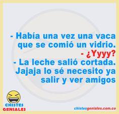 Chistes Geniales – Chistes geniales para reír hasta mas no poder. Funny Spanish Memes, Spanish Humor, Color Plata, Best Funny Jokes, Short Funny Jokes, Funny Clips, Hilarious Pictures, Good Jokes
