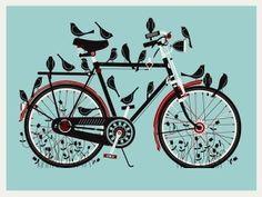 ave,bici,ilustracion,pajaro,tintado,bike-