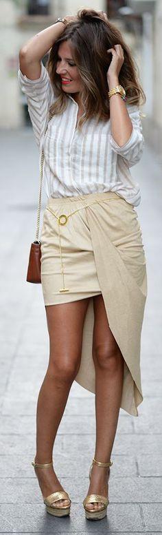 Another Skirt Outfit Idea by Mi Aventura Con La Moda