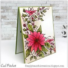 Simply Beautiful: Misti Meets Impression Obsession Blog Hop Christmas Themes, Christmas Cards, Impression Obsession Cards, Altenew, Card Tutorials, Winter Cards, Winter Theme, Petunias, Poinsettia