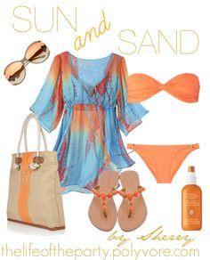 Sun and Sand Beach outfit... Except for the bathing suit. That would never work for me.