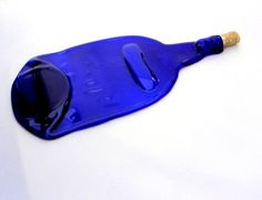 Appetizer Dish/Blue Wine Bottle Appetizer Tray/Wholesale/Boutique/Gift/Created…