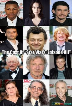 "Ladies And Gentleman... The Cast Of ""Star Wars Episode VII"""