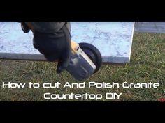 How to Cut And Polish Granite Countertop DIY - YouTube