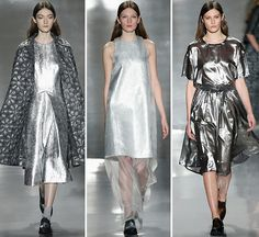 New York: Noon by Noor continued to create downtown chic looks for the contemporary girl with a modern edge. Minimal silhouettes with a focus on fabric...