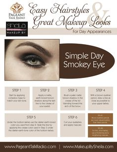 Valerie Hayes - The Pageant Coach | Simple Smokey Eyes for Day Appearances