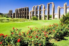 Merrida Spain Aquaduct. Roman Built.