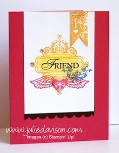 Julie's Stamping Spot -- Stampin' Up! Project Ideas Posted Daily: Affection Collection Convention Make & Take