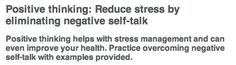 Reduce #stress with #positive thinking! (via www.mayoclinic)