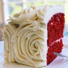 red velvet & flower cake
