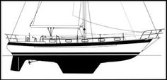 Underbody Design -   1. Skeg Protected Rudder, detached from the keel is well suited for long distance cruising. The skeg protects the rudder to some degree, and may increase directional stability. Examples of this type of design: Valiants, Pacific Seacraft 34, 37, 40, 44. There are many suitable, well-built boats of this design type and they are a popular choice for long distance ocean cruising. - (Shown: Valiant 42).