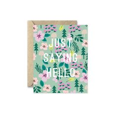 This card features a woodland floral pattern. Each note card has a blank interior.   -cards measure 4.25 x 5.5 inches (A2) -folded cards with blank interior -includes kraft envelopes -packaged in clear sleeve      All artwork and designs are copyright of August & Oak.