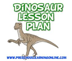 Dinosaur lesson plan for kids and learning themes for teaching preschool children and kindergarten kids about dinosaurs using fun educational activities.