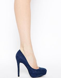 Faith | Faith Navy High Heeled Court Shoes at ASOS