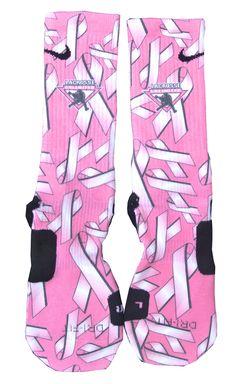 Custom Nike Elite Socks - Breast Cancer Awareness