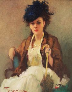 Lady with Parasol  Fernand Toussaint