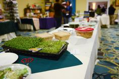 Slice your own micro greens on our buffet table! Photo by @Tisha Mccuiston { Life on Bramble Hill