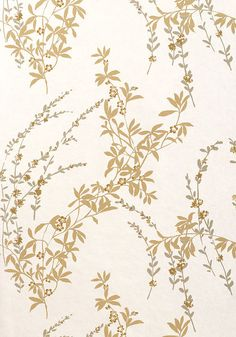 Fiona #wallpaper in #pearl from the Jubilee collection. #Thibaut