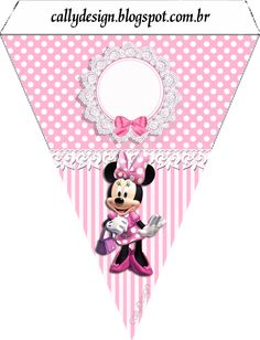 bandeirolas varalzinho minnie rosa 4 Minnie Mouse Birthday Decorations, Minnie Mouse Theme Party, Mickey Mouse Birthday, Mouse Parties, Mickey E Minnie Mouse, Minnie Mouse Images, Free Printable Banner, Free Printables, Party Kit