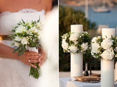 Country Yard Romance Wedding @ Island Restaurant in Varkiza Athens Corfu Wedding, Greek Wedding, Wedding Sets, Diy Wedding, Wedding Day, Wedding Table Flowers, Wedding Ceremony Decorations, Flower Decorations, Rome Antique