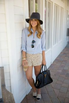 Can t wait for them to come in the mail  D Gal Meets Glam- Chambray Top    Leopard Shorts 379f26292c17