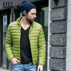 Spring Men's Ultra Light Duck Down Jacket Men Breathable Thin Coats Autumn Casual Male Feather Jackets S - 4XL,UMA339